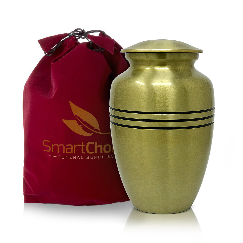 SmartChoice Classic Gold Urns with 3 Lines design