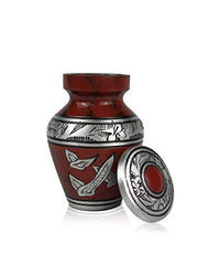 SmartChoice Royal Red Urn keepsake With Doves