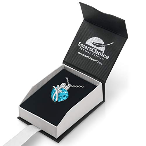 Rose Heart Pendant for Cremation Ashes with Beautiful Presentation Gift Box