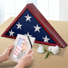 Memorial Flag Display Case for Burial Flag 5x9 Feet