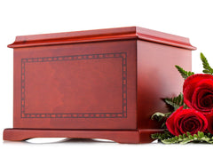 Adult - Wood Human Funeral Cremation Urn for Human Ashes
