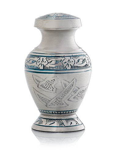 SmartChoice Urn keepsake human ashes - Color Dove Blue