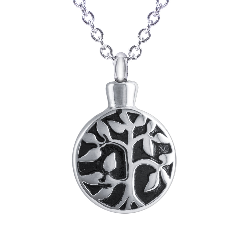 "Cremation Urn Necklace for Ashes ""With Beautiful Gift Box"" Tree of Life Cremation Urn Jewelry"