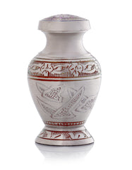 SmartChoice Urn keepsake human ashes - Color Dove Red