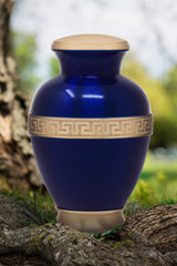 Cremation Urn for Human Ashes - Memorial Urn with Greek Motif (Adult)