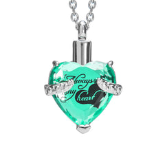 "Cremation Urn Necklace for Ashes ""With Beautiful Gift Box"" Urn Pendant Cremation Jewelry (Green)"