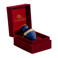 SmartChoice Urn keepsake human ashes - Color Blue Greek