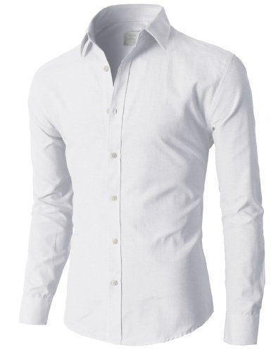 Man's Long Sleeved White Dress Shirts