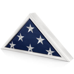 Memorial Flag Display Case for Burial Flag 5x9 Feet (White)