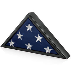 Memorial Flag Display Case for Burial Flag 5x9 Feet (Black)