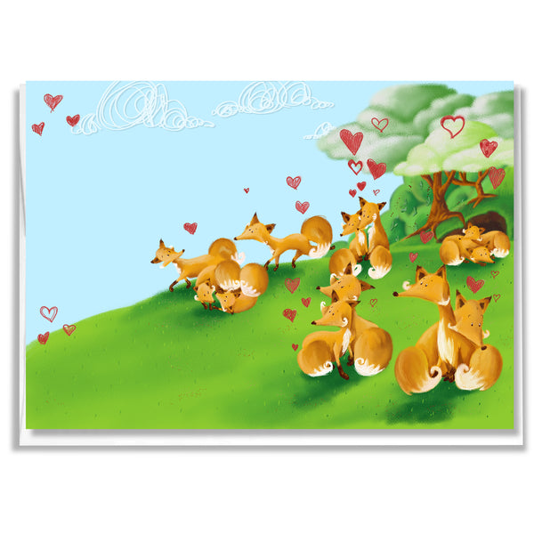 Carte Renards en amour