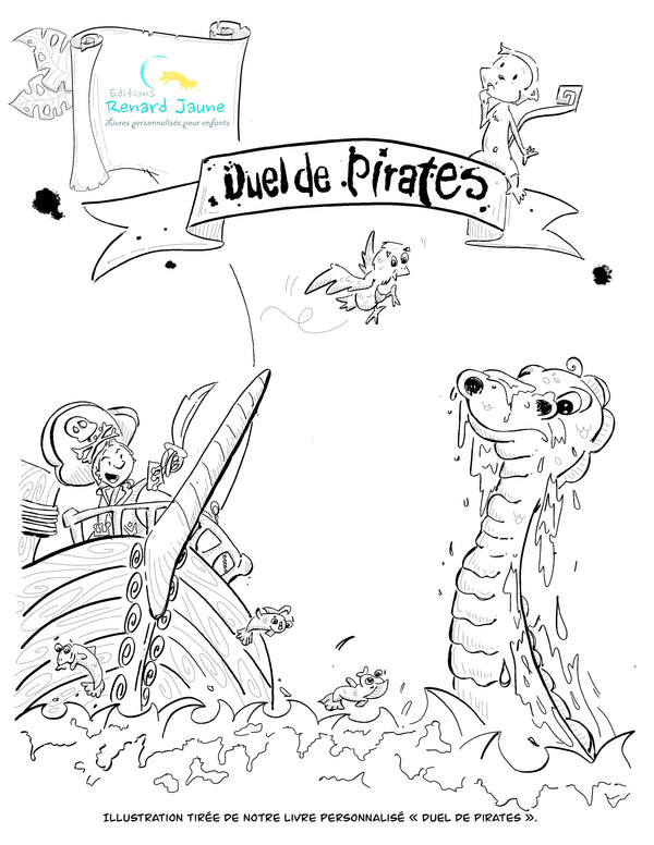 dessin à colorier Duel de pirates
