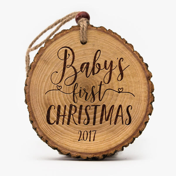 Live edge Baby's First Christmas Ornament