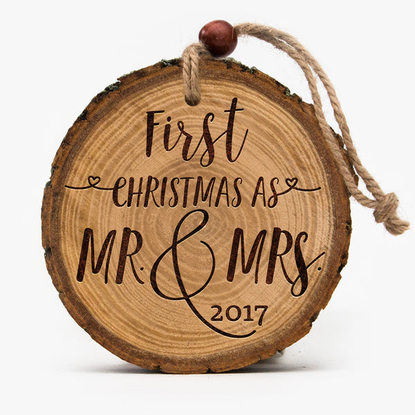 Live edge Couples First Christmas Ornament