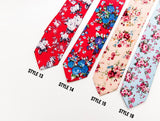 Trendy Floral Skinny Ties 33 Colors