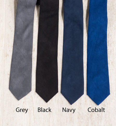 Suede Skinny Ties 10 Colors