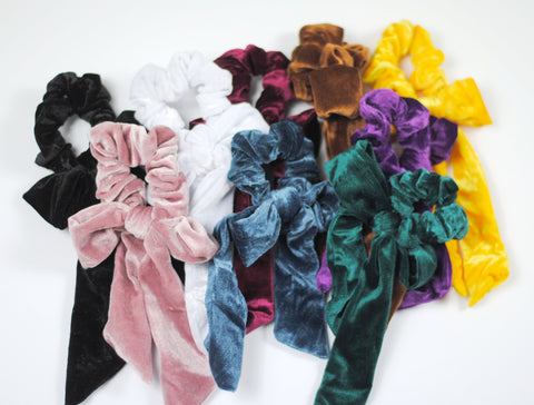 Velvet Hair Scarf Scrunchies 9 Colors
