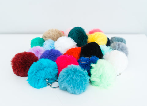Pom Pom Key Chains 28 Colors!