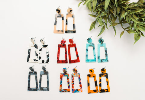 Acrylic Earrings 7 colors!