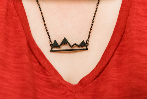 Mountain Peak Necklace 3 colors