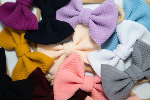 Textured Bow Headband 12 Colors
