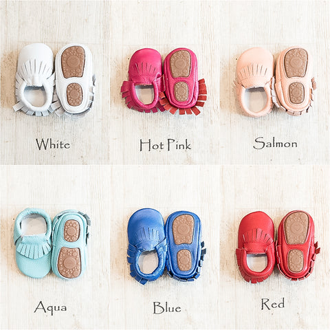 Hard Sole Moccasins Solid Colors