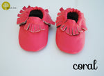 Baby Leather Moccasins Solid Colors