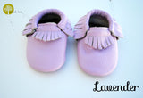 Baby Leather Moccasins Solid Colors 2