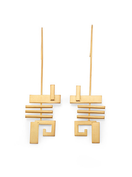 Disrupted earrings
