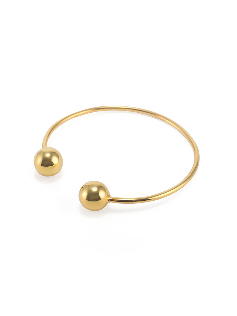 Density double sphere bangle
