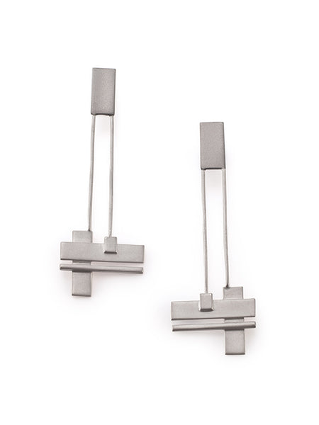 Suprematist earrings