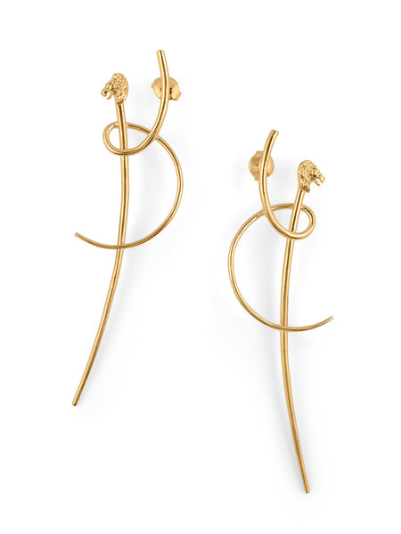 Katana Leo earrings