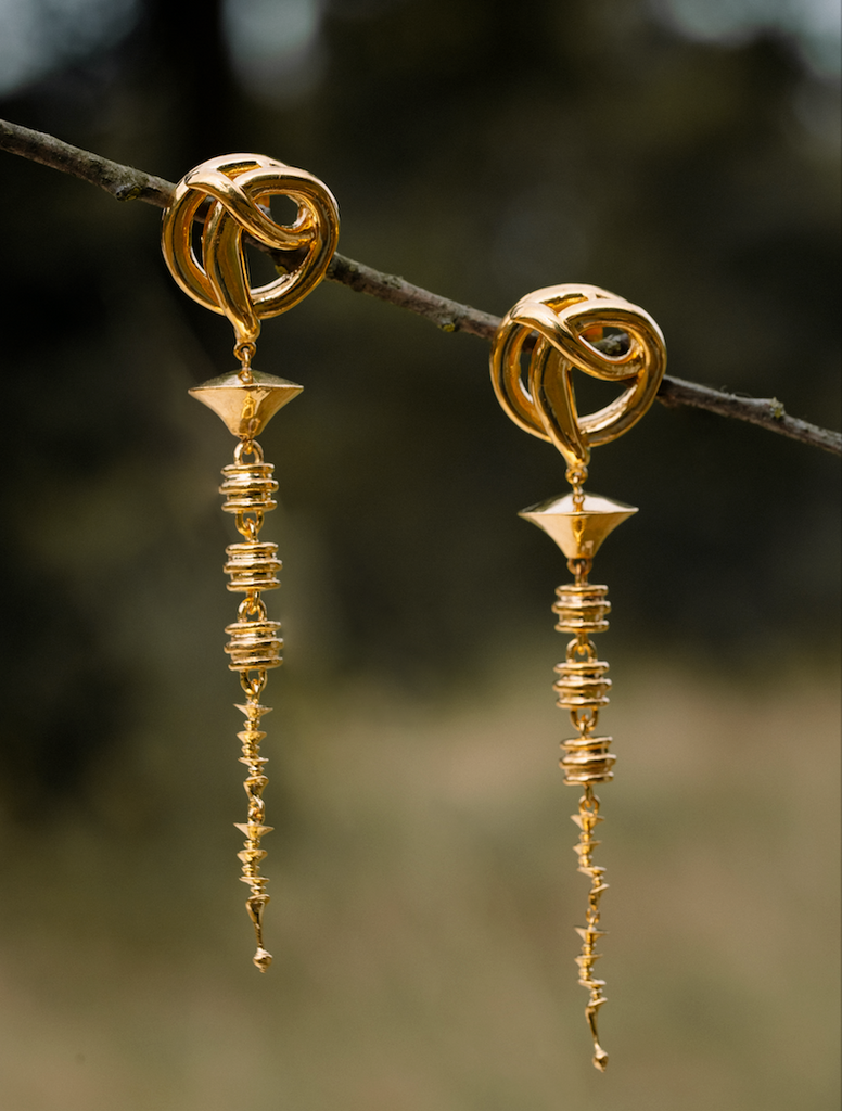 The Knotted Flower Earrings