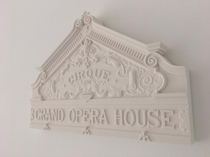 plaster cast model Grand Opera House Belfast