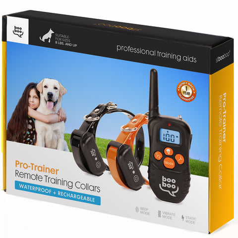 Dog Obedience Dual Pet Training System w/ Remote (ProTrainer Series)
