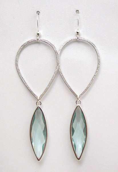 #AAMC055- Water Drop- Erinite Silver