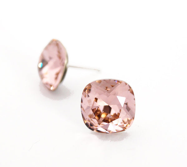 #CS46-Vintage Rose Crystal Studs