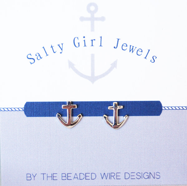 Petite Studs- Anchor