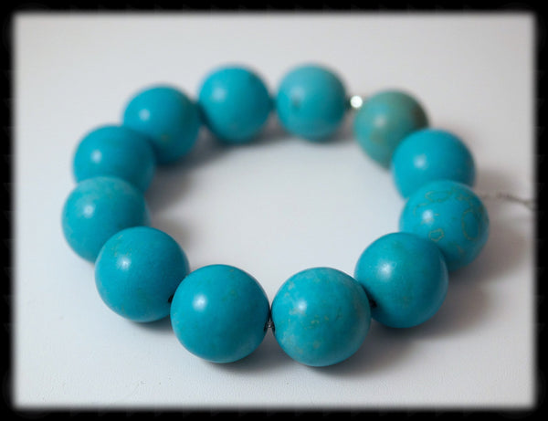 #JGB31- Bold Gemstone Stretch- Blue Turquoise