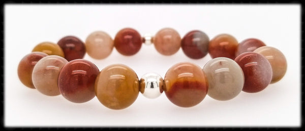 #JGB29- Gemstone Stretch- Colonial Jasper