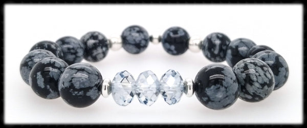 #JGB661- Gemstone Crystal Stretch-Obsidian Blue Shade
