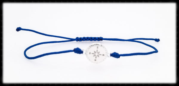 #SGB2- Adjustable Cord Bracelet- Compass