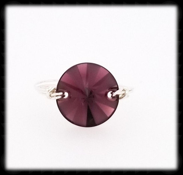 #R018- Wrapped Prism Ring- Amethyst Sterling