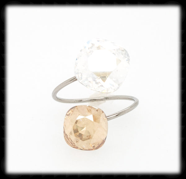 Sparkling 2 Tone Ring- Moon Golden Shadow