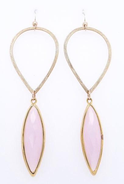 #AAMC065G- Water Drop- Pink Opal Gold