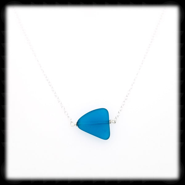 #SGLN15- Sea Glass Necklace- Teal