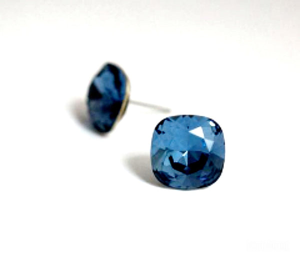 #CS31- Denim Blue Crystal Studs