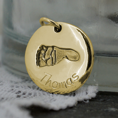 ENGRAVING FOR GOLD FINGERPRINT JEWELLERY STYLE 5