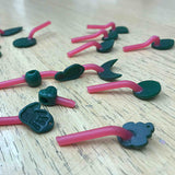 Handmade wax necklaces with spru's