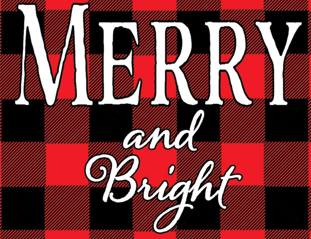 "Crate Plate ""Merry & Bright"""